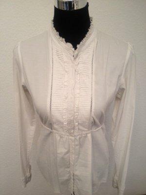 schicke feine weiße Bluse