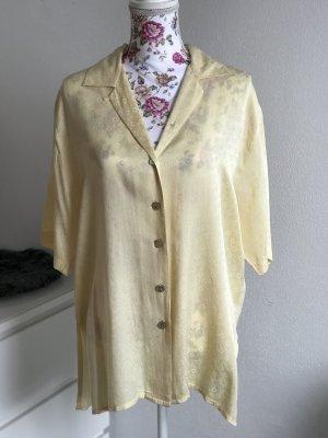 Schicke gelbe Vintage Bluse aus Seide