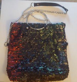 Schicke glitzer Tasche, Shopper - Pailetten mehrfarbig NEU
