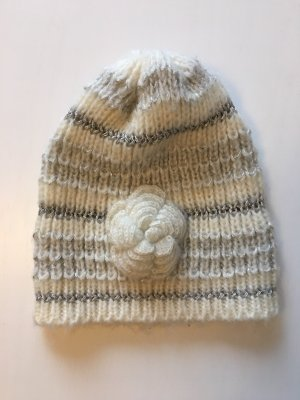 H&M Knitted Hat white-silver-colored