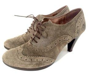 schicke Görtz Schnürschuhe Stiefeletten Schnürstiefeletten Leder Vintage braun Budapester Top Zustand Gr. 41