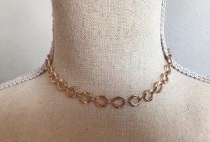 Schicke goldene Choker Halskette
