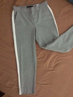 Zara 7/8 Length Trousers grey-white