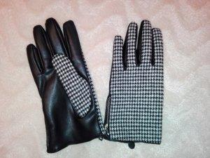 Gevoerde handschoenen wit-zwart