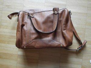 schicke Handtasche von TCM/Tchibo Platzwunder Crossover Camel/Cognac wie NEU