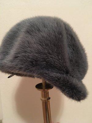 Schicke hochwertige Mütze, Nerz, fast neu