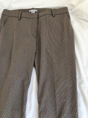 Schicke Hose Anzug Tweed Business braun beige Muster Hahnentritt klassisch englisch grade hüfthose