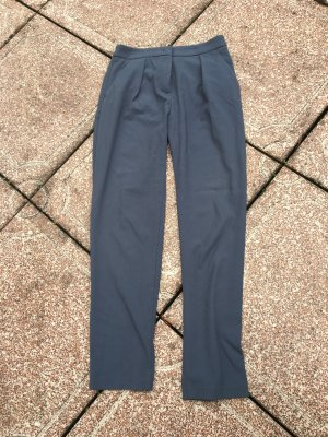 Schicke Hose blau grau Benetton Business Sommer high waist hochgeschnitten elegant locker