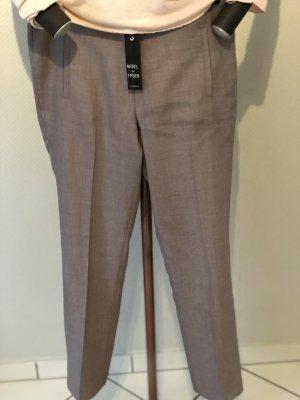 Pantalon en jersey chameau-argenté tissu mixte