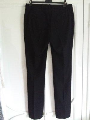 Zara Basic Pantalon à pinces noir polyester
