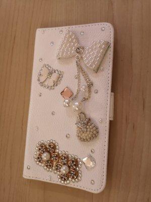 Hoesje voor mobiele telefoons wit-zilver