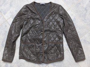 Schicke Jacke, braun, friendtex, Gr. M, metallic Look