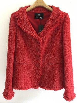 Schicke Jacke von Rena Lange in Rot, Boucle-Stoff, Gr.40/42, NEU MIT ETIKETT!!!
