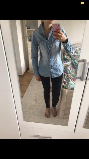 Schicke Jeansbluse