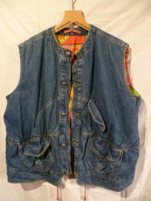 Oilily Denim Vest blue cotton