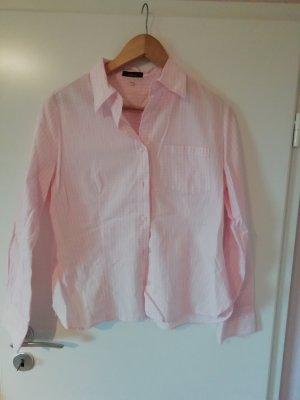 schicke karierte Bluse in rosa