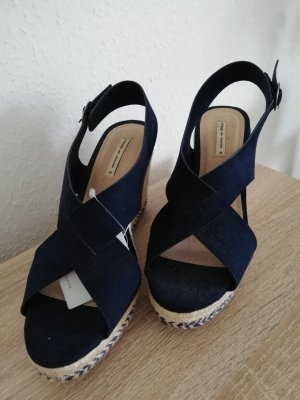 Oysho Platform High-Heeled Sandal blue-dark blue