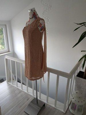 Apart Robe à paillettes rose chair