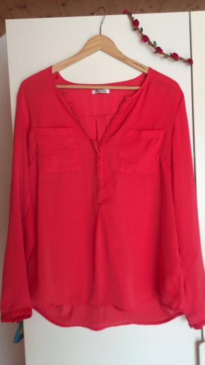 Ann Christine Long Sleeve Blouse red-bright red
