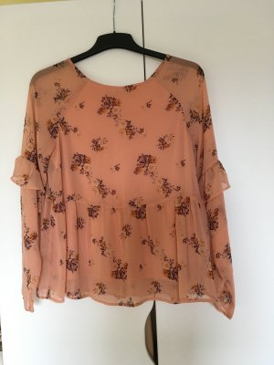 Pieces Long Sleeve Blouse salmon-pink polyester