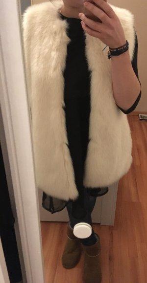 Zara Trafaluc Vest van imitatiebont veelkleurig