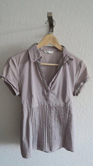 schicke kurzärmelige Bluse gestreift