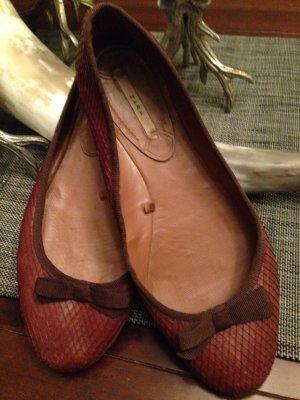 Schicke Leder Ballerinas