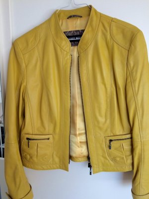 Schicke Lederjacke von GERRY WEBER, gelb, kaum getragen!