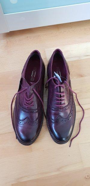 5th Avenue Chaussures à lacets rouge foncé-bordeau