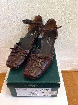 Schicke Lederschuhe von Paul Green, Gr. 41, braun