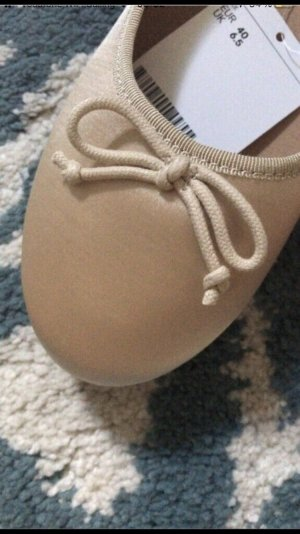 H&M Divided Slingback Ballerinas nude