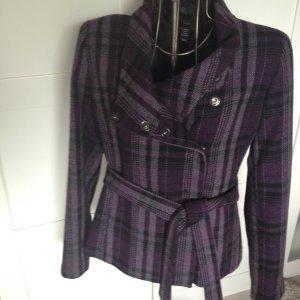 schicke lila schwarze Jacke von H&M Gr. 40