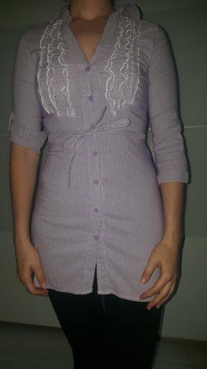 Schicke Long Bluse mit Rüschchen
