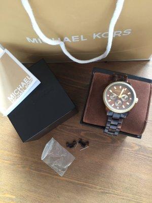 Schicke Michael Kors Uhr in braun/ gold