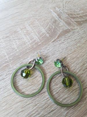Pendientes colgante verde claro