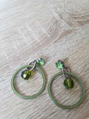 Pendant d'oreille vert clair