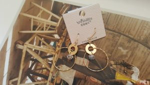 Silver Earrings gold-colored