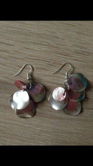 Schicke Ohrringe rosa silber