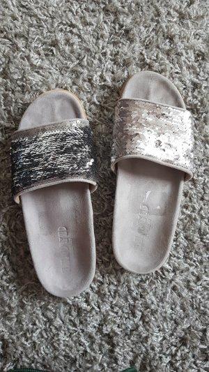 Lloyd Flip-Flop Sandals silver-colored-light grey