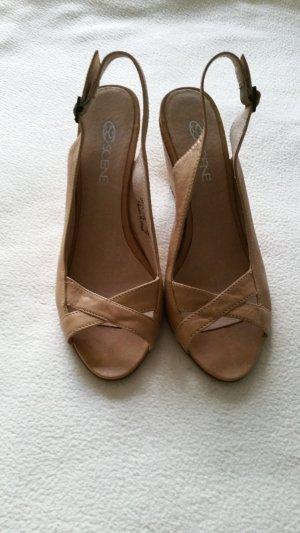 Lavorazione Artigiana Platform High-Heeled Sandal cream-nude