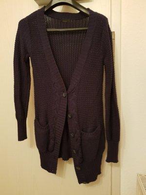Schicke Pullover-Strickjacke mit V-Ausschnitt (S) von Vero Moda in Lila-Dunkelblau