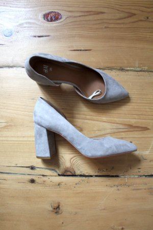 H&M Slingback Pumps silver-colored