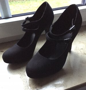 Schicke Pumps mit Plateau in Velouroptik