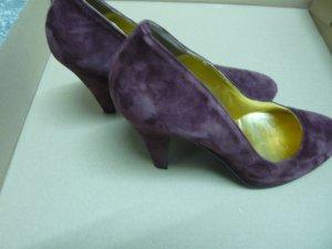 Loafers paars Leer