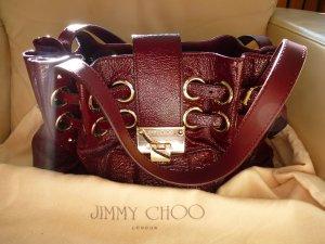 Jimmy Choo Bolsa de hombro burdeos-rojo oscuro Cuero