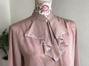 Schicke rosa Vintage Bluse