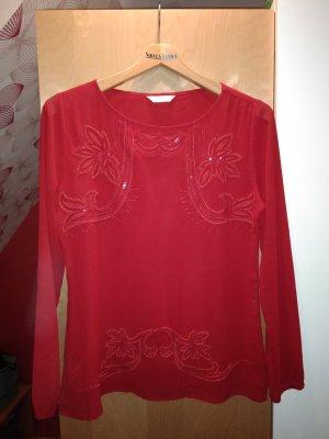 Schicke rote Bluse