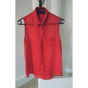 Schicke, rote Bluse in Gr. 34