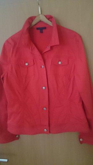 Schicke rote Jeansjacke mit Strassknöpfen von KAPALUA in Größe 44