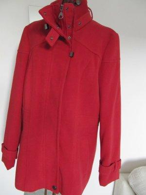 Schicke rote Winter Jacke Gr.38 hoher Kragen Reißverschluss + Druckknöpfen